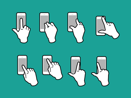Hand and finger to operate smartphone 01