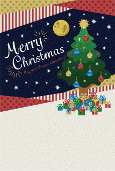 Christmas card [postcard size] tree