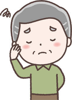 Elderly man headache