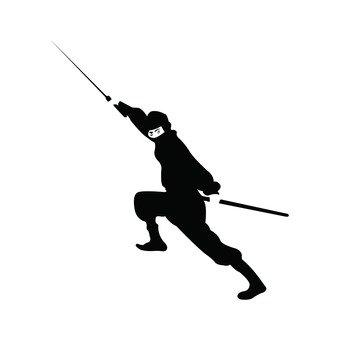 A black ninja holding a sword (1)