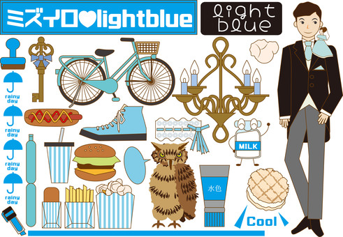 Light blue items (such as sundries)