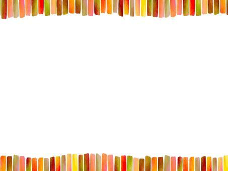 Warm color system gradation frame