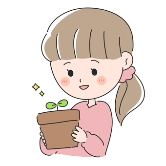 Woman enjoying gardening