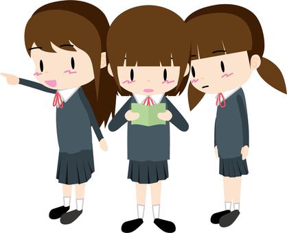 School excursion (stroll · girls)