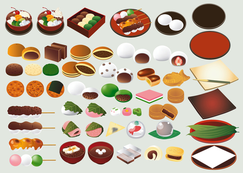 Summary of Japanese confectionery material