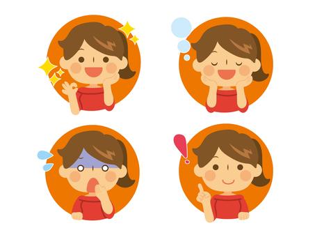 Female facial expression set No main line