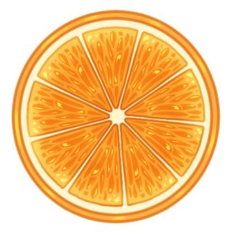 Round slice orange
