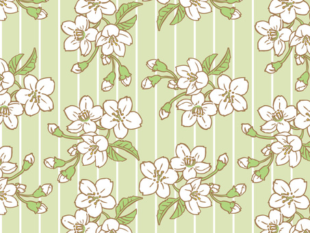 Spring cherry tree tile pattern (repeat) A04