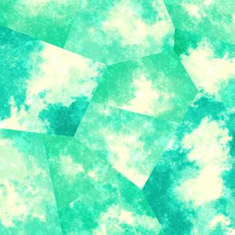 水彩風格背景材料02 /綠色b