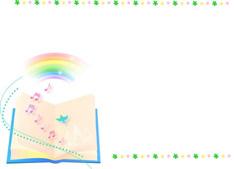 Fairy tale book frame