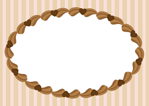 Choco cream frame round shape