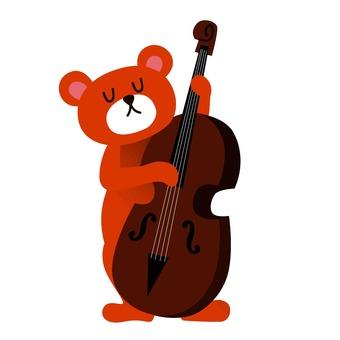 Bear playing guitar