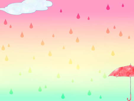 Rainy season background (red umbrella)