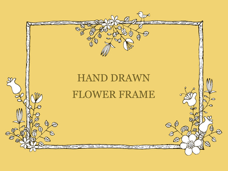 Handwritten flower frame 1