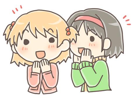 Girls telling secret stories