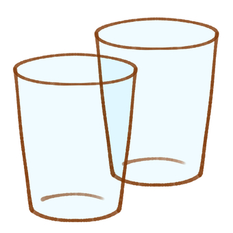 Simple glass cup