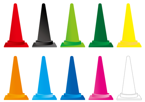 Color cone plain color