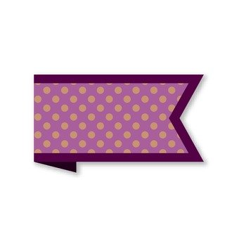 Ribbon banner with polka dots