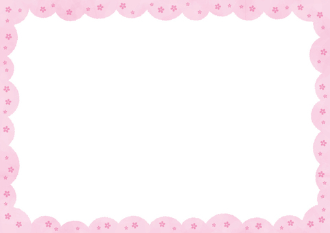Background _ Sakura tree _ outer frame
