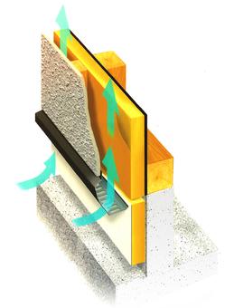 벽의 단면 단열과 공기의 흐름