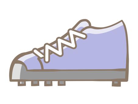 Spike shoes-blue 190721