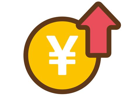 円高、インフレのイメージ