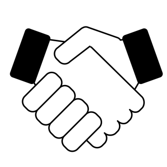 Business handshake illustration icon material