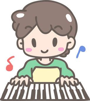 피아노 연주 (남자)