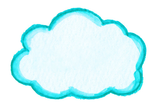 Light blue cloud frame