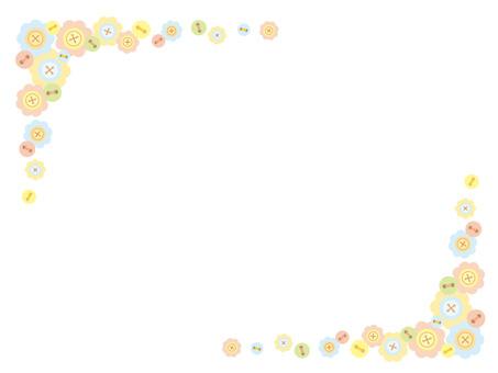 Button, flower, frame