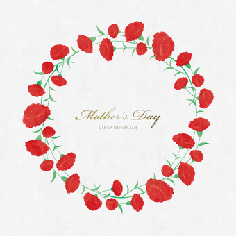 Spring background frame 066 wreath Mother's Day