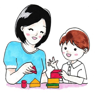 Building blocks with parent and child