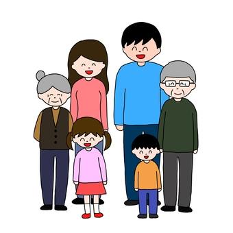 Three generation family smile