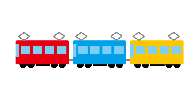 Train vehicle image material