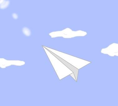 종이 비행기, 하늘, 맑은 하늘