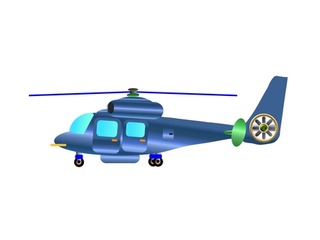 Play of a play aquarium helicopter