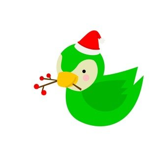 Santa hat bird (1)