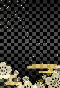 Japanese pattern background Black Vertical position