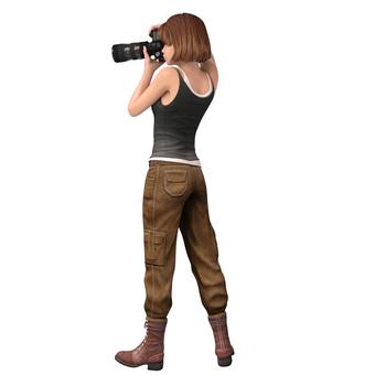 여성 카메라맨