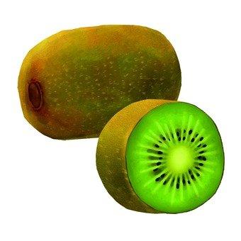 Kiwi, cut edge
