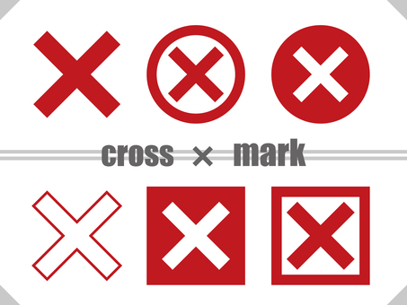 Cross mark TYPE01 Red