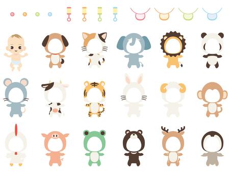 B052_Animal baby dress-up set