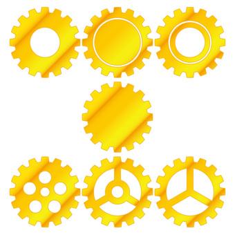 Gear Set 03 Gold