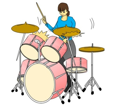 Woman hitting the drum 2019.6