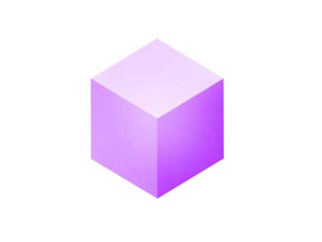 Cube purple