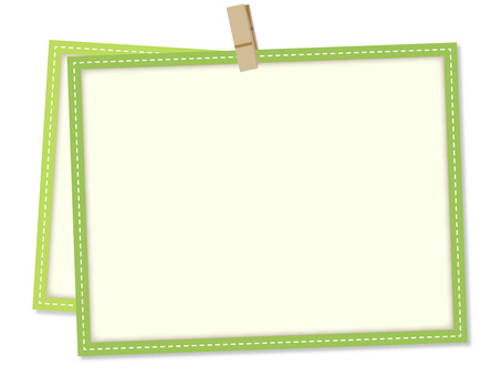 5617. Frame, clip green 1