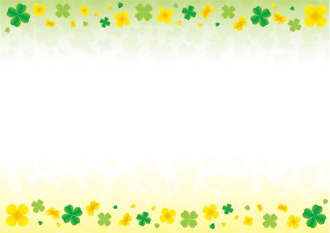 Rape blossoms and clover frame