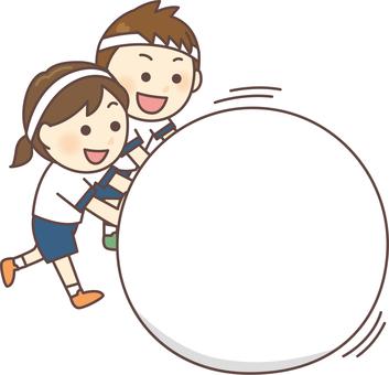 Rolling large balls (Hachimaki / White group)