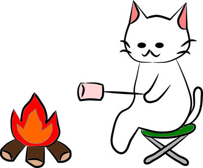 Baked marshmallows with Nyanko