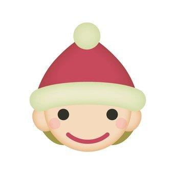 산타 모자를 쓰는 남자